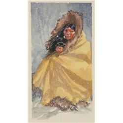 Nancy McLaughlin, Watercolor inside The Western Art of Nancy McLaughlin