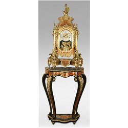 Ornate Clock On Pedestal, 20th century