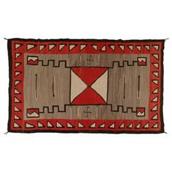 Navajo Weaving, 1910 JB Moore, 93 x 56