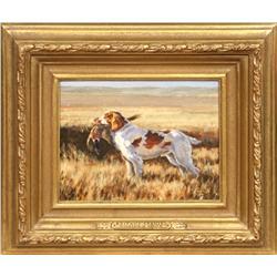 William G. Smith, oil on canvasboard