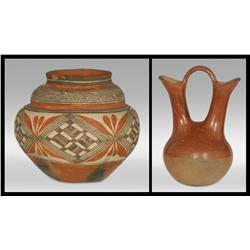 Acoma Pot and San Juan Wedding Vase