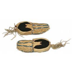 Southern Cheyenne Beaded Moccasins, circa 1900