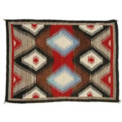 Navajo Weaving, 44 ½ x 60, circa 1940s