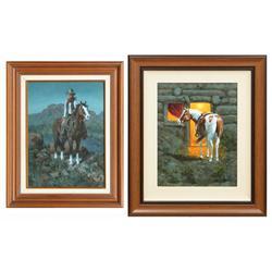 John Jones, two oils on canvas
