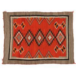Navajo Red Mesa Weaving, 66 x 49, circa 1940s