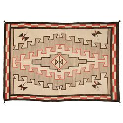 Navajo Pictorial Klagetoh Weaving, 88 x 60, circa 1920
