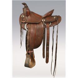 Heiser Woman's Embossed Saddle, circa 1940s