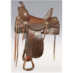 Collins and Morrison Stock Saddle, circa 1910