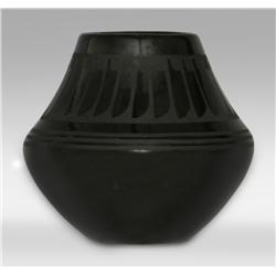 San Ildefonso Pot by Santana and Adam