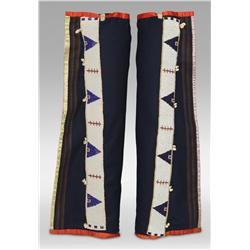 Sioux Men's Beaded Leggings, Early 20th century