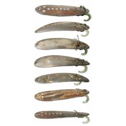 Seven Northwest Coast Lures, 19th century