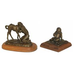 Two Bronzes: Robert M. Scriver and Ace Powell