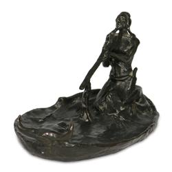 Charles M. Russell, bronze - Roman Bronze Works