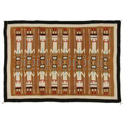 Navajo Yei Weaving, 82 x 59, circa 1950s