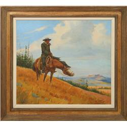 Olaf Wieghorst, oil on canvas
