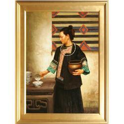 Jie Wei Zhou, oil on canvas
