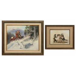 Buck McCain, Two Paintings