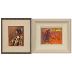 Pair of paintings by Guy Deel and Donald Putman