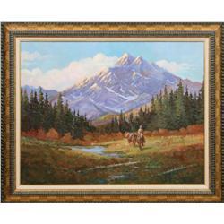 Clifton Ray Cheek, oil on canvas