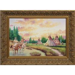 Vasiliy Nicholayevich Gribennikov, oil on canvas