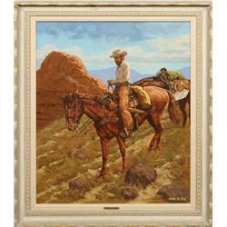 Willis M. Rue, oil on canvas