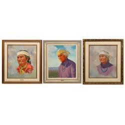 Willis M. Rue, 3 oils on canvas