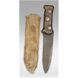 Mountain Man Style Knife and Sheath, early 19th century