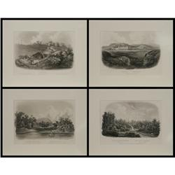 Karl Bodmer, 4 aquatint etchings