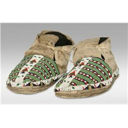 Sioux Youth's Beaded Moccasins