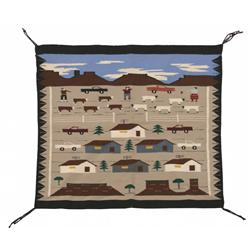 Navajo Pictorial Weaving, 31 x 32, 20th century