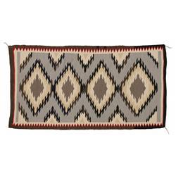 Navajo Weaving, 58 x 31, circa 1950