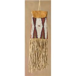 Beaded Ute Tobacco Bag, 19th century