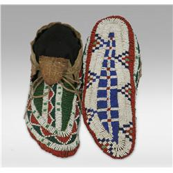 Sioux Ceremonial Beaded Moccasins, 19th century