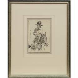 "Robert ""Shoofly"" Shufelt, pencil drawing"