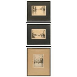 Hans Kleiber, 3 etchings