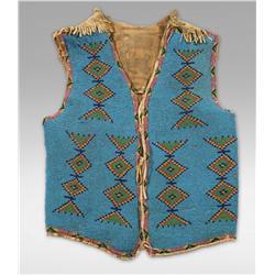 Blackfoot Beaded Vest, circa 1900