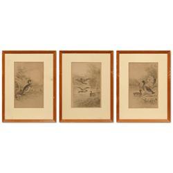 William De La Montagne Cary, three etchings