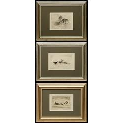 Ted Lambert, three etchings