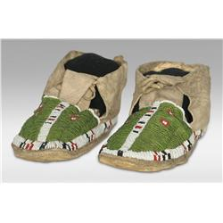 Sioux Beaded Moccasins, 19th century