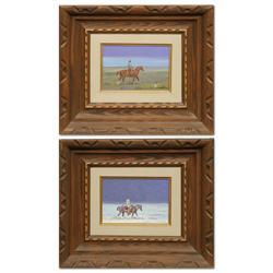 Ace Powell, 2 oils on canvas