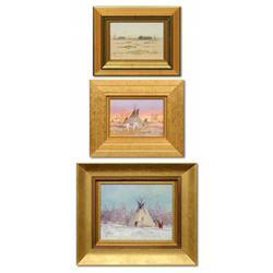 Ace Powell, 3 oils on canvas