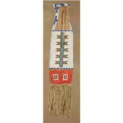 Sioux Beaded & Quilled Pipebag, 19th century