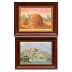 Emerson Everett Glass, pair of oils on board