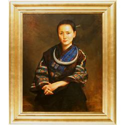 Jie Wei Zhou, oil on canvas