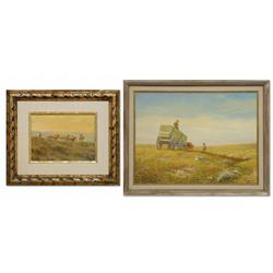 Ernie Caviness, pair of oil paintings