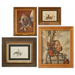 Four Paintings by Linda Boothman, Dianne Van Dlac, William MacLane, Robert Freeman