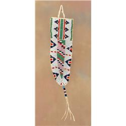 Sioux Beaded Knife Sheath, Early 20th century