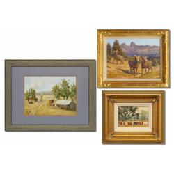 Group of 3: Kay M. Hendricks oil on board, Tim Shinabarger oil on board, Paul Youngman oil on board