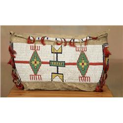 Sioux Teepee Bag, 19th century