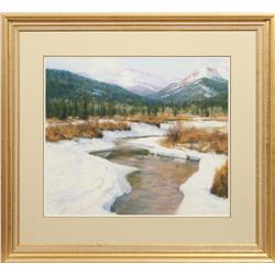 Unknown Artist, Winter Scene, pastel